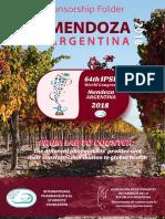 Sponsorship Folder 64th IPSF World Congress Mendoza 2018