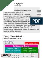 Thermal Physics Slideshow/Presentation for Edexcel A levels
