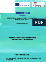 Statistical Assessment of the Test Phase - ROMINKO Project