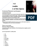 The Phantom of the Opera NCEA 1.6 Task
