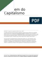 A Origem Do Capitalismo