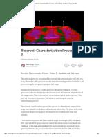 Reservoir Characterization Process - Vol 3