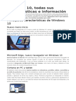 Windows 10 Caracteristicas