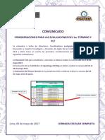 Comunicado PLT y 1st Term Exam