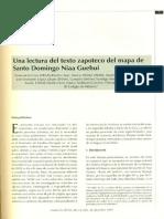 Cruz, Victor de La-Una Lectura Del Mapa Zapoteco de Santo Domingo Nia Gehui