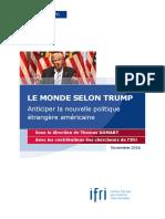 Etude Ifri Le Monde Selon Trump