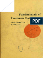 Carl B. Allendoerfer Fundamentals of Freshman Mathematics