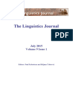 The Linguistics Journal July 2015 Volume 9, Number 1