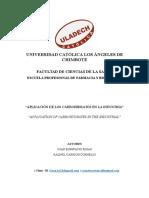 APLICACIÓN DE LOS CARBOHIDRATOS EN LA INDUSTRIA