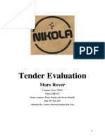drews tender evaluation pdf