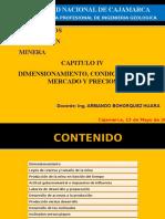 Cap. 04.- Dimensionamiento, Condiciones de Mercado y Precios