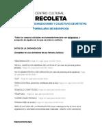 Formulario de Inscripción Convocatoria Colectivo y Organizaciones 2017