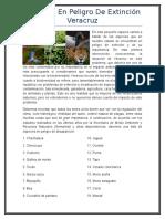 Especies en Peligro de Extinción Veracruz