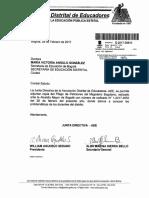 Pliego de Peticiones ADE 2017