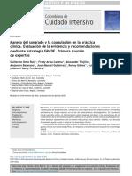 Manejo del sangrado y la coagulación en la práctica clínica. Evaluación de la evidencia y recomendaciones mediante estrategia GRADE. Primera reunión de expertos.pdf