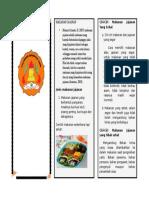 Pamflet Makanan Dan Jajanan Sehat Untuk Anak Sekolah Dasar