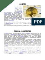 Moneda y Teoria Monetaria