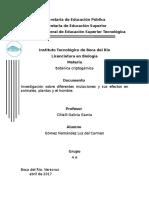 Investigación Sobre Diferentes Mutaciones y Sus Efectos en Animales, Plantas y El Hombre.