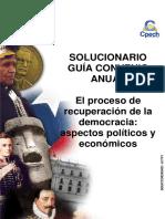 Solucionario Clase El Proceso de Recuperación de La Democracia Aspectos Políticos y Económicos 2017