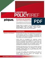 Pique European Policy Brief en 2010 - EU privatisation of public services