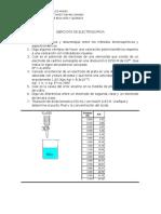 Ejercicios de Análisis Farmacéutico II. Electroquímica