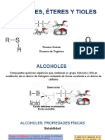 Alcoholes Eteres y Tioles