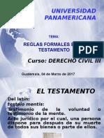 Reglas Formales en El Testameno - 04 Marzo