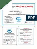 certificate 1661721