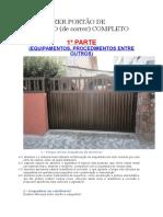 Como Fazer Portão de Alumínio