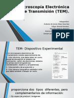 Microscopía Electrónica de Transmisión (TEM)
