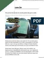Não portar documento do veículo poderá não gerar multa.pdf