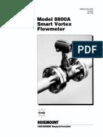 Rosemount Flowmeter Vortex Model 8800A