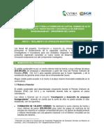 Anexo 1. Reglamento de Operaciones Maestrías