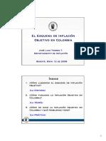 Inflacion Objetivo en Colombia