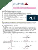 Vectors and Equilibrium