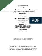 Consumer Buying Behavior in Automobile I
