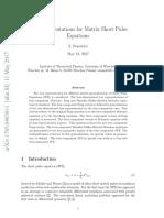 Lax Representations for Matrix Short Pulse Equations