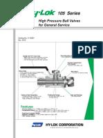 105 Series High Pressure Ball Valves