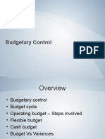 Budgetary Control - Lesson 5