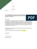 Modelo Carta Radicación Plan de Accion Bodegas