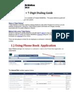 7-Digit Dialing Guide