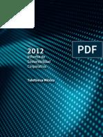 2012 Informe de Sostenibilidad Corporativa