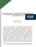 Aristóteles y Los Indios de América