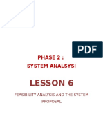 Feasibility Analysis and the System Proposal