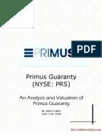 Primus Guaranty (PRS) Stock Report