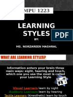 MPU 1223 - Learning Styles