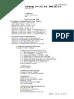 Inhaltsverzeichnis Segment LU s BR500 CD 1735 _ 1 Und 2