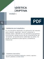 Unidad 1 Estadística Descriptiva