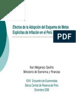 Metas Explicitas de Inflacion