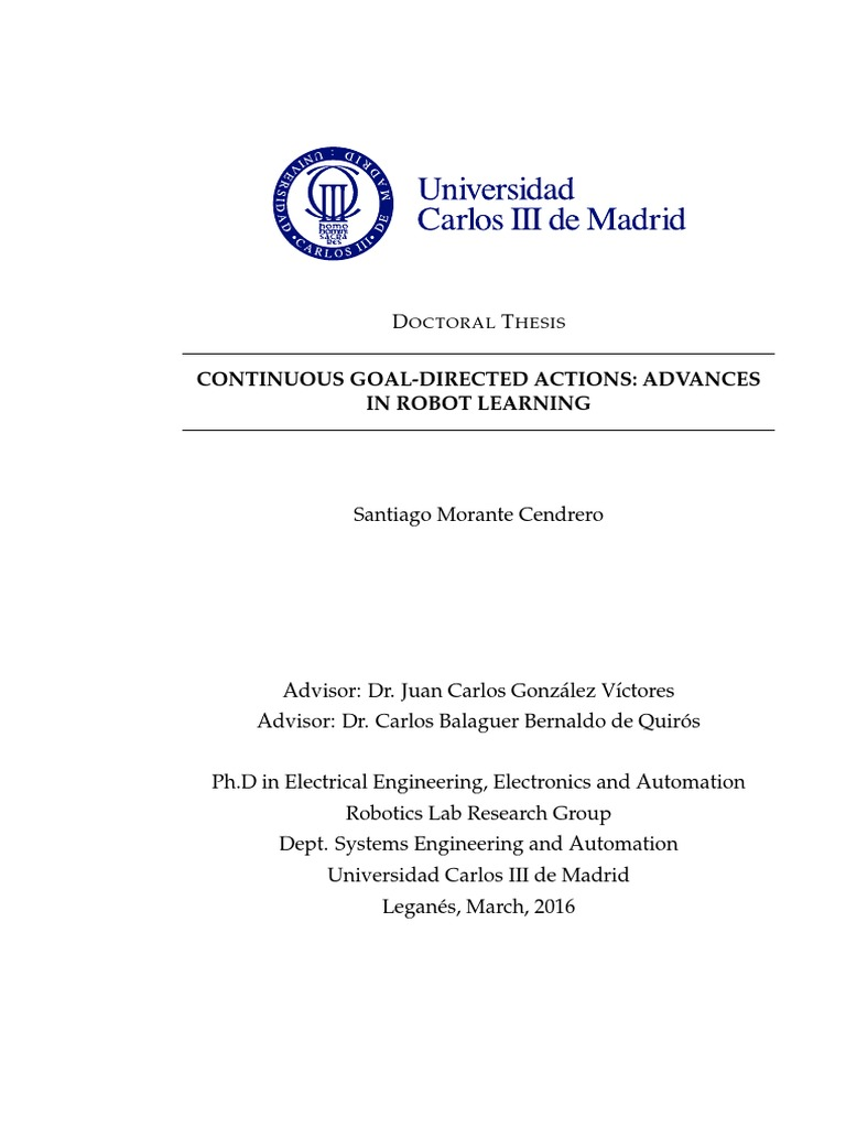 phd thesis on robotics